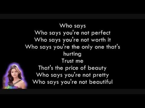 Who Says Selena Gomez lyrics :)