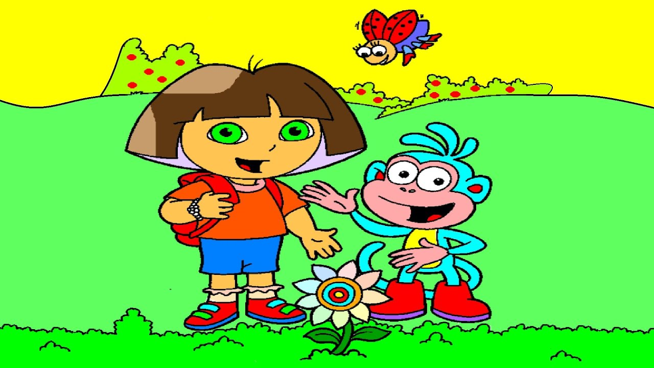 dora and boots finds rare flower dora coloring book dora