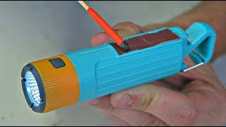 World's First Flashlight Matches Container!