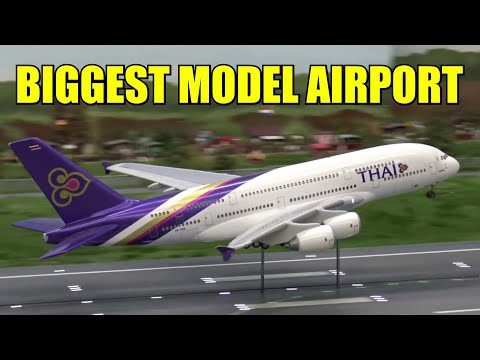20 Minutes of Plane Spotting @ World's largest model airport | Miniatur Wunderland Hamburg