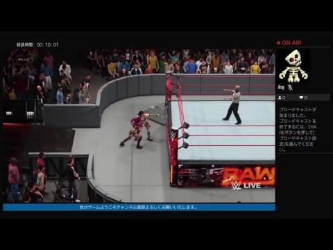 PS4 WWE2K18#15 RAW WOMES CHAMPIONS SHIP ASKA@ SASHA BANKS