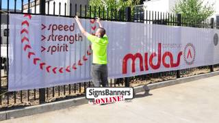 Printed Screens As Used By Contractors Construction & Fence Banners