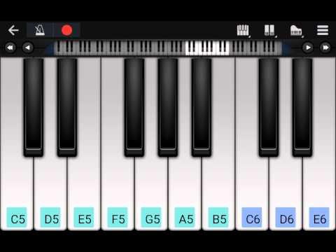 Fnaf Music box song on piano tutorial