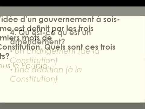 100 U.S citizenship questions in English audio and french writings