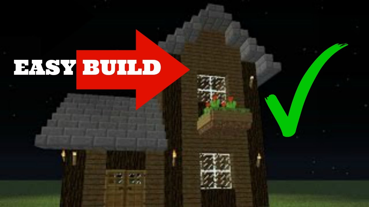 How to build a simple two story survival house in for Simple two story house