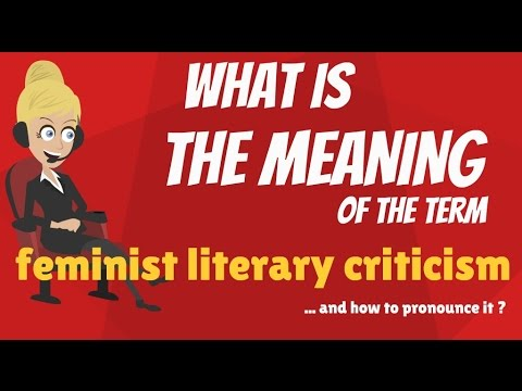 What is FEMINIST LITERARY CRITICISM? What does FEMINIST LITERARY CRITICISM mean?