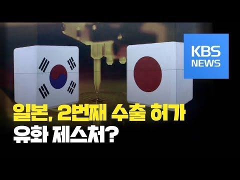 일본, 포토레지스트 2차 허가…한일 외교 회담 앞두고 유화 제스처? / KBS뉴스(News)