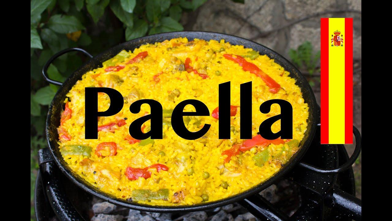 C mo hacer paella con pollo y magro de cerdo receta espa ola youtube - Como cocinar paella ...