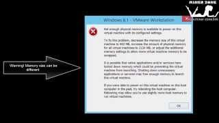 Fix VMware 10 Not Enough Physical Memory