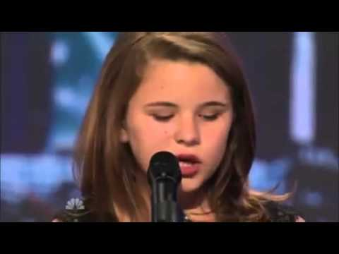 A little girl with a deep voice