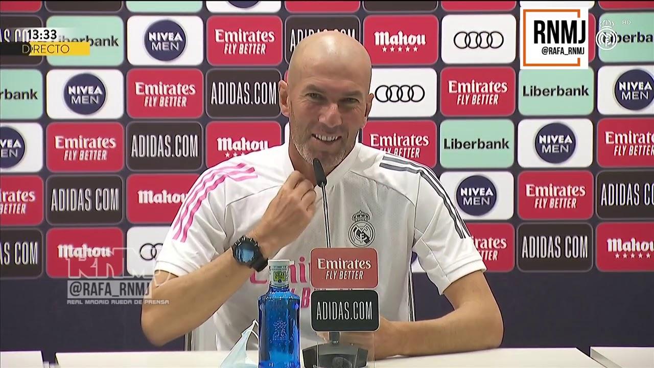 Rueda de prensa de ZIDANE previa Real Madrid - Real Valladolid (29/09/2020)