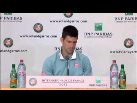 Novak Djokovic - QF press conference - RolandGarros 2013