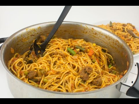 How To Make Jollof Spagetti - Chef Lola's Kitchen