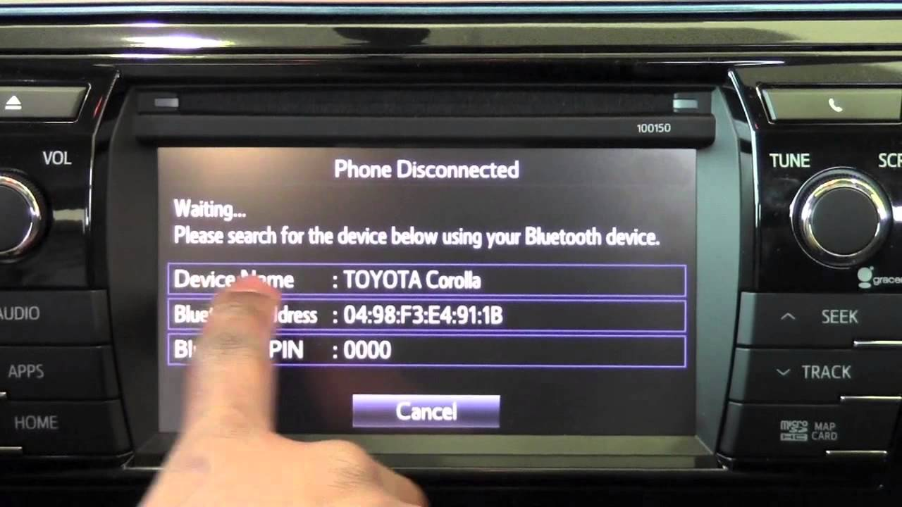 how to set up bluetooth in toyota corolla 2014