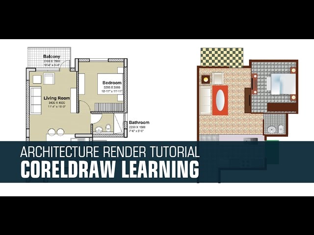 Tutorial Render 2d Plan In Coreldraw X7 Youtube