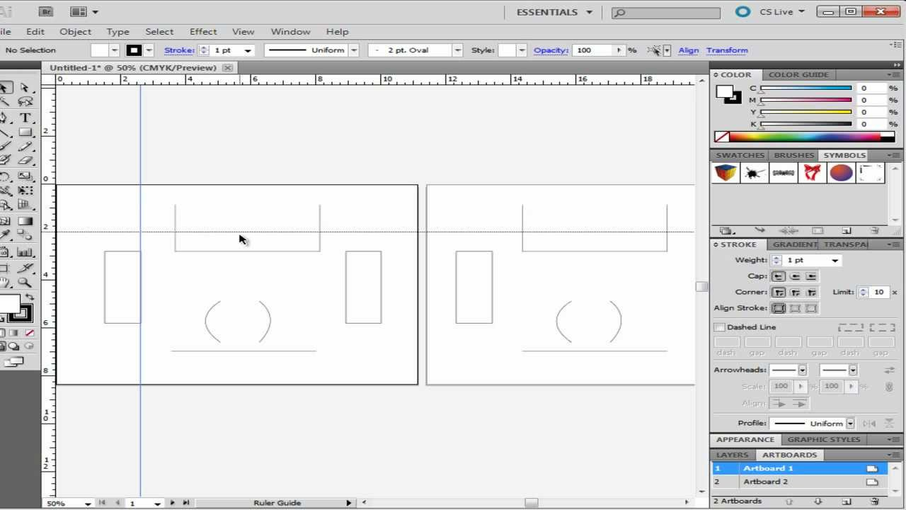 How To Use Grids Rulers And Guides In Adobe Illustrator Youtube
