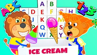 Lion Family learn the Alphabet and Numbers ???? Educational Videos   Cartoon for Kids
