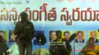 Christian telugu songs:nishbhdham vintha,organised by symphony music ministries,india.sponcer this p