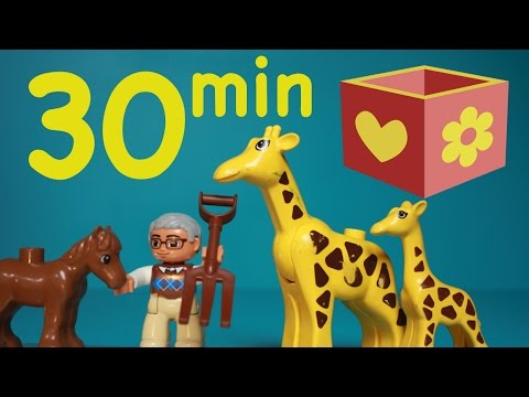 Lego Duplo videos   Zoo Animals, farm, tractor and more   Bellboxes collection
