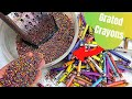 I Grated Wax Crayons to make a MELTED CRAYON Table