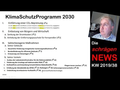 KlimaSchutzProgramm 2030, Tesla Fussgängersound, NordSchleife, VW Logo (NEWS KW38/2019)