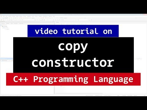 103 | CPP Copy Constructor with Example | C++ Programming Video Tutorials for Beginners