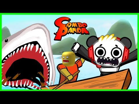 Roblox Shark Bite MEGALODON FOUND ME Let's Play with Combo Panda