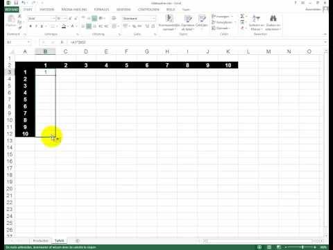 Absolute en relatieve celadressering in Excel 2013