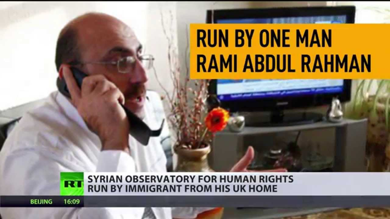Syrian Observatory for Human Rights run by immigrant from his UK home