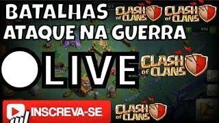 ●LIVE!!!!BATALHANDO NA VILA DO CONSTRUTOR E ATAQUE EM GUERRA!(clash of clans)