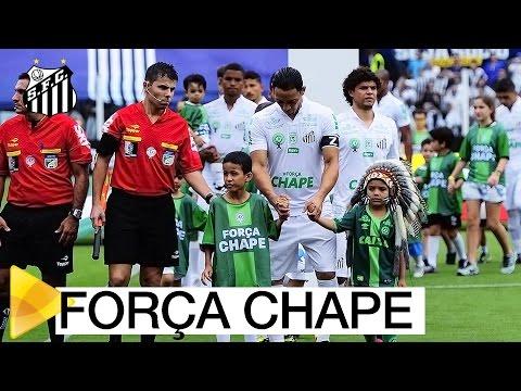 Santos FC homenageia Chapecoense na Vila Belmiro