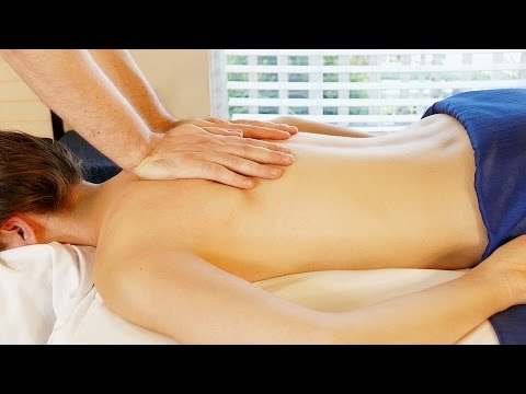 Relaxing Back Massage Tutorial with Oil, Swedish & Deep Tiss