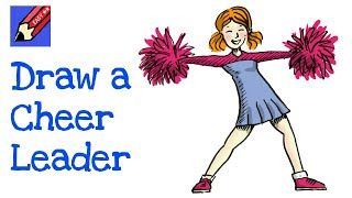 How to draw a Cheerleader Real Easy