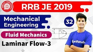 11:00 PM - RRB JE 2019   Mechanical Engg by Neeraj Sir   Laminar Flow (Part-III)