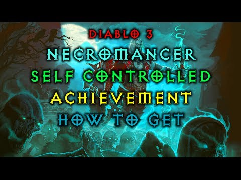 Diablo 3 Necromancer - Self Controlled Achievement | How to get | Fast and Easy | Live Patch 2.6