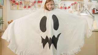 Family Crafts: How to make a Halloween ghost costume from an old bedsheet