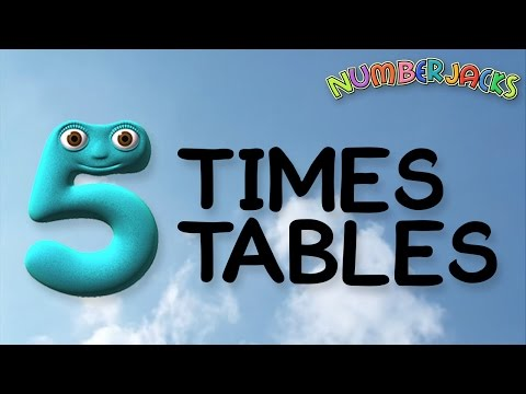 5 Times Tables Song -  Numberjacks