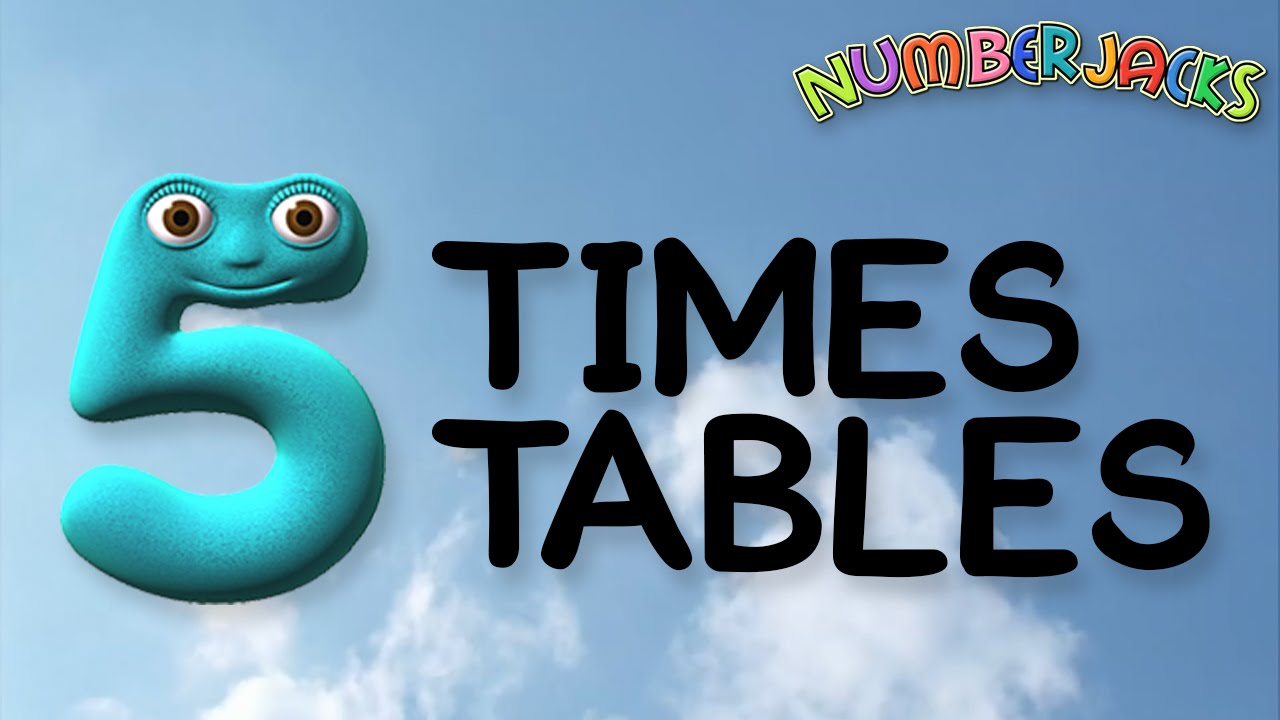 5 times tables song numberjacks youtube for 10 times table song