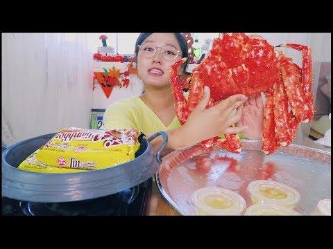 (킹크랩먹방) KING CRAB MUKBANG (2nd year on Youtube Anniversary!) part 1