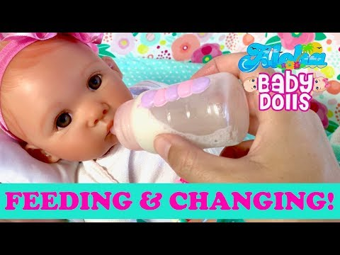 💖 Very Cute Paradise Galleries Reborn Doll !!! Baby Doll's First Feeding & Changing!