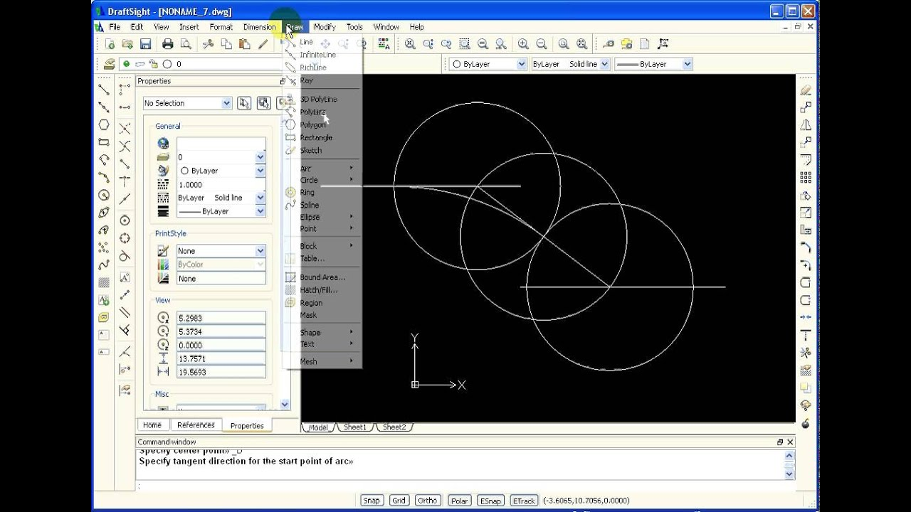 Drawing Lines In Draftsight : Draftsight how to draw tangent arcs from two parallel