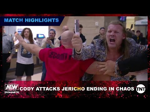 AEW EVP Cody Punches Out Window To Attack Jericho Ending In Absolute Chaos