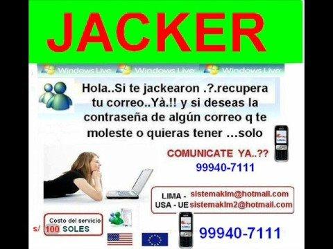HACKER MSN MESSENGER EN TU PC (ESPAÑOL) lima PERU LIMA PERU