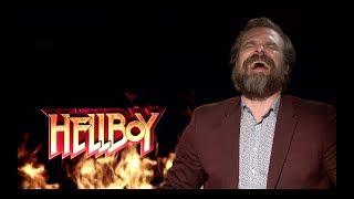 HELLBOY Fun Cast Interviews: David Harbour, Ian McShane, Milla Jovovich, Daniel Dae Kim