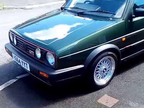 golf mk2 gti 16v oak green after respray youtube. Black Bedroom Furniture Sets. Home Design Ideas