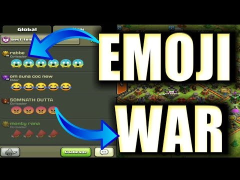 Emoji war in clash of Clans | Omg I can't believe