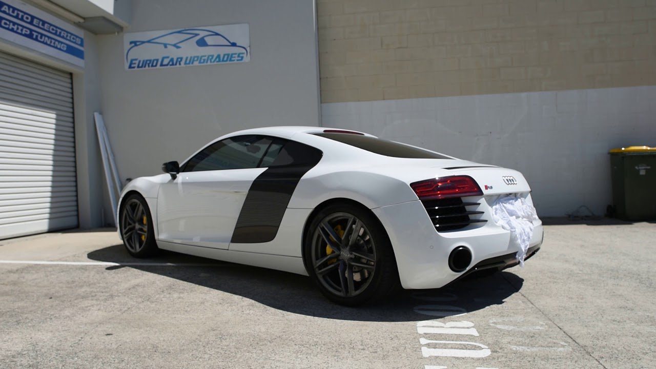 Audi R8 V8 Facelift Tubi Style Exhaust Sound Euro Car Upgrades