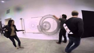 Wall mounted Spirograph
