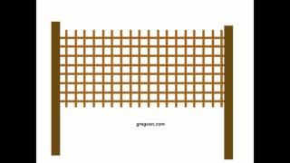 How To Adjust Lattice Fence Panels - Wood Fencing