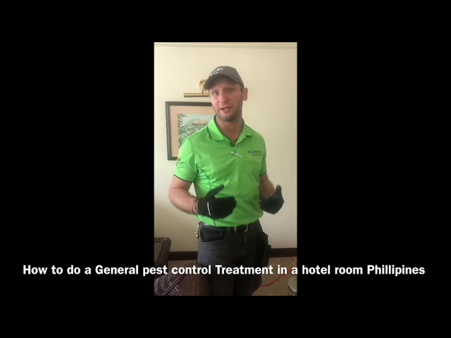 How to do a General Pest Control Treatment in a hotel room